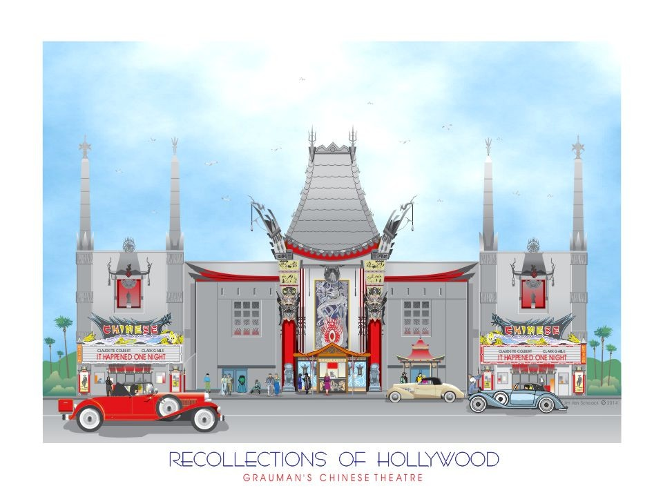 Recollections of Hollywood: Grauman's Chinese Theatre Hollywood, CA