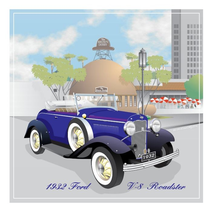 1932 Ford V-8 Roadster at The Brown Derby