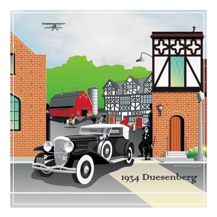 1934 Black Duesenberg at Charlie Chaplin Studios