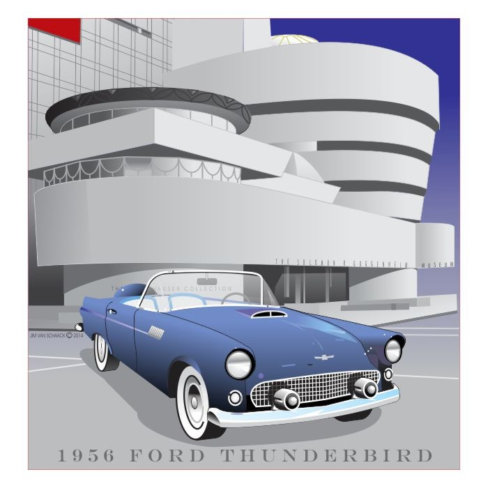 1956 Ford Thunderbird at the Guggenheim