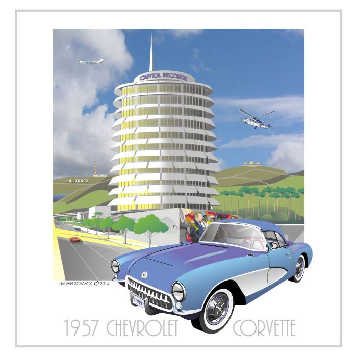 1957 Chevrolet Corvette at Capital Records